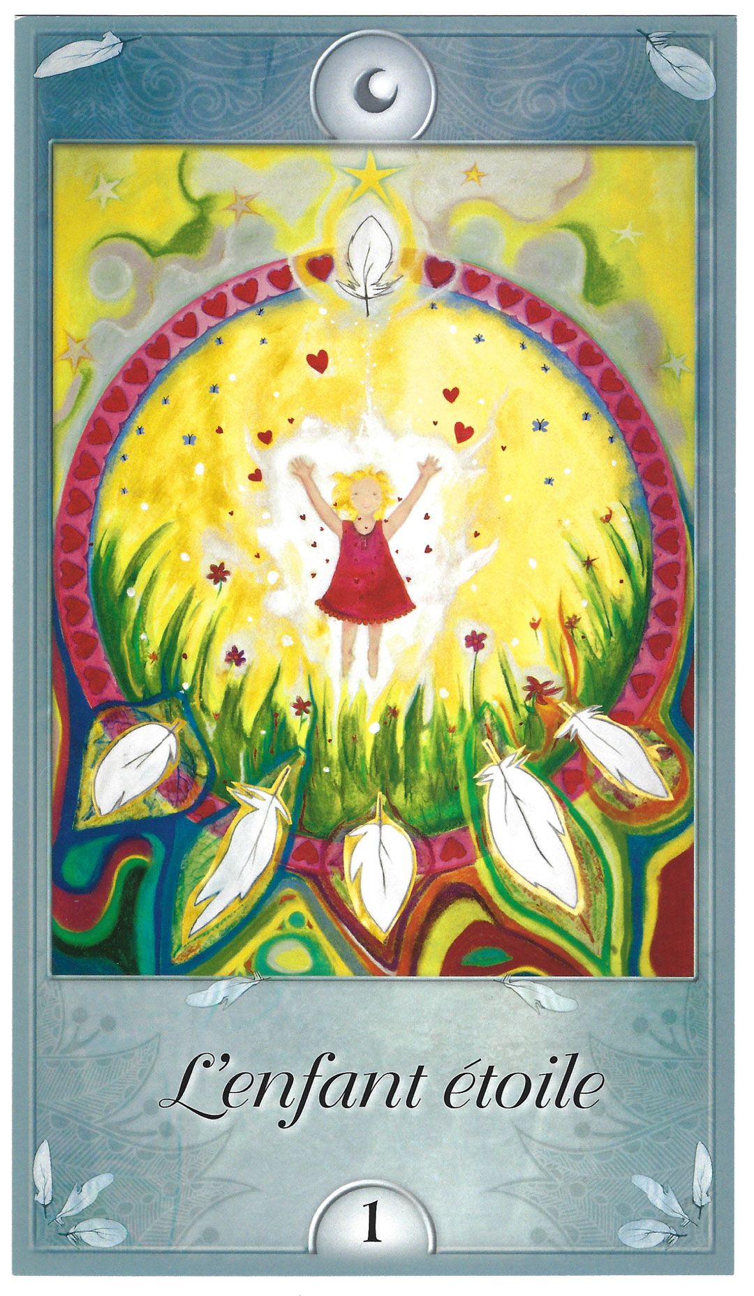 Carte d'oracle représentant l'enfant étoile